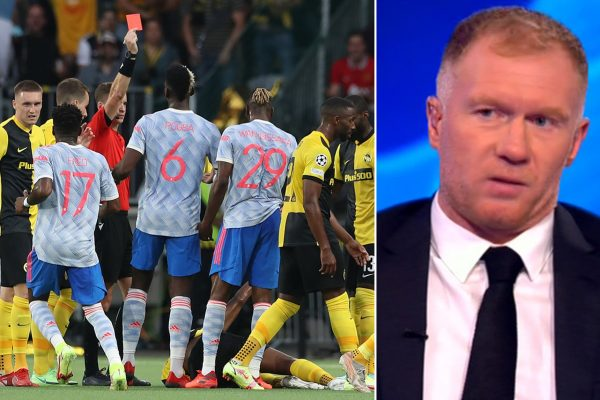 Paul Scholes agreed with Aaron Wan-Bissaka's red card